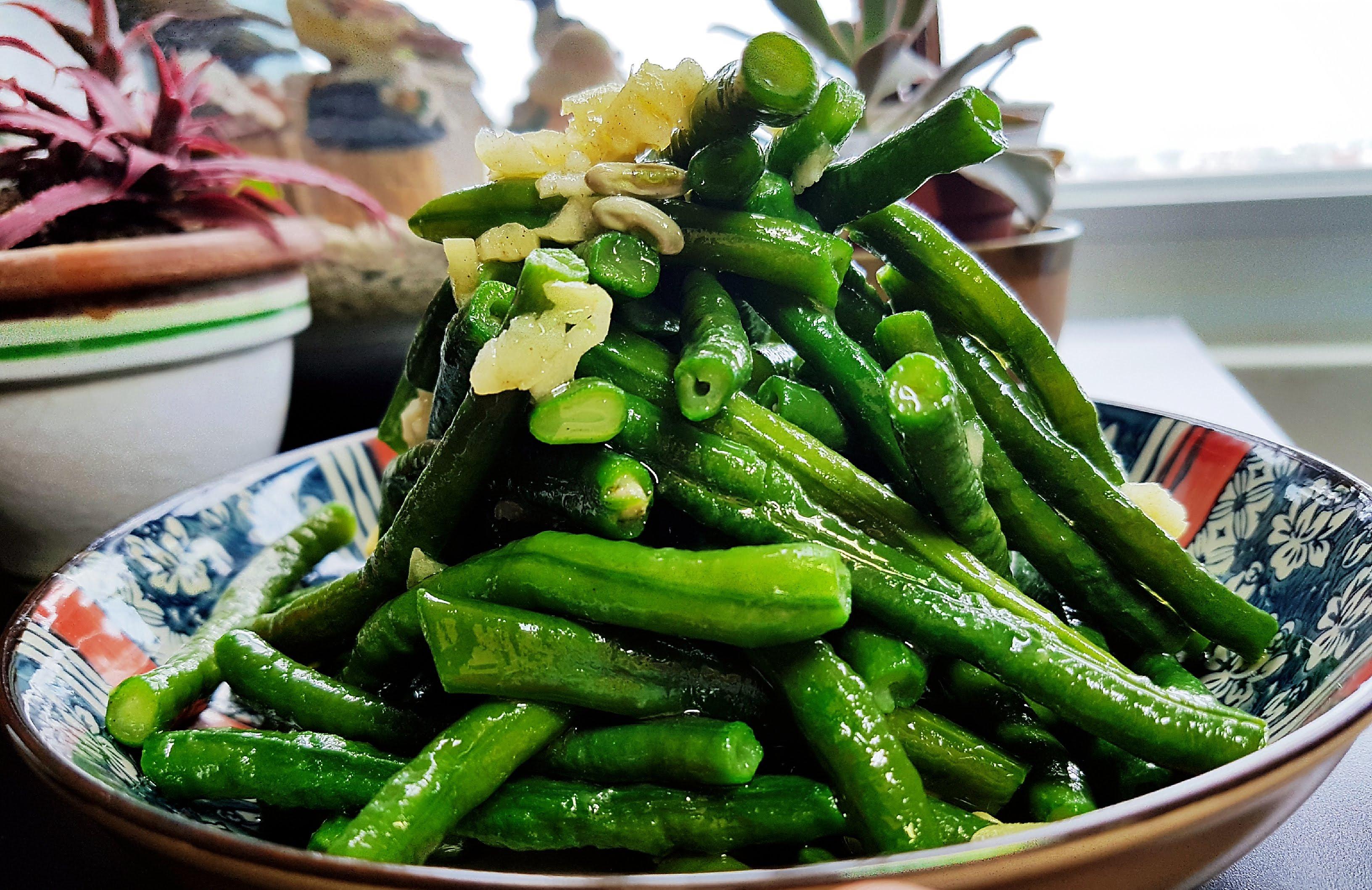 蒜蓉豇豆(菜豆)
