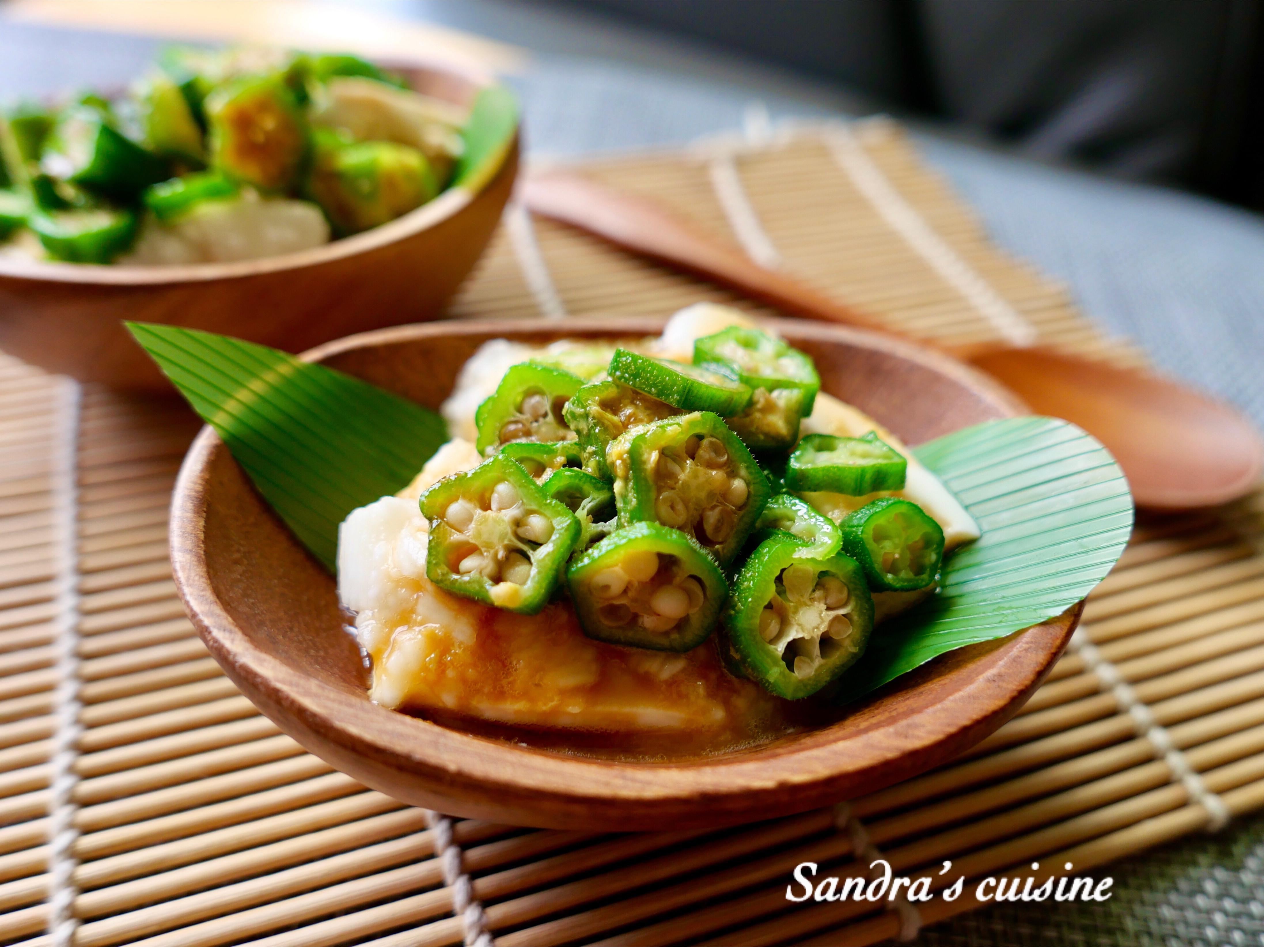 山藥秋葵冷豆腐