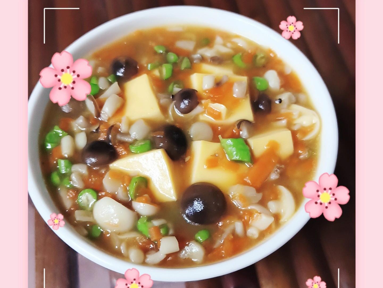 素蛋羹(水蒸蛋)雞蛋嫩滑素食鴻禧菇
