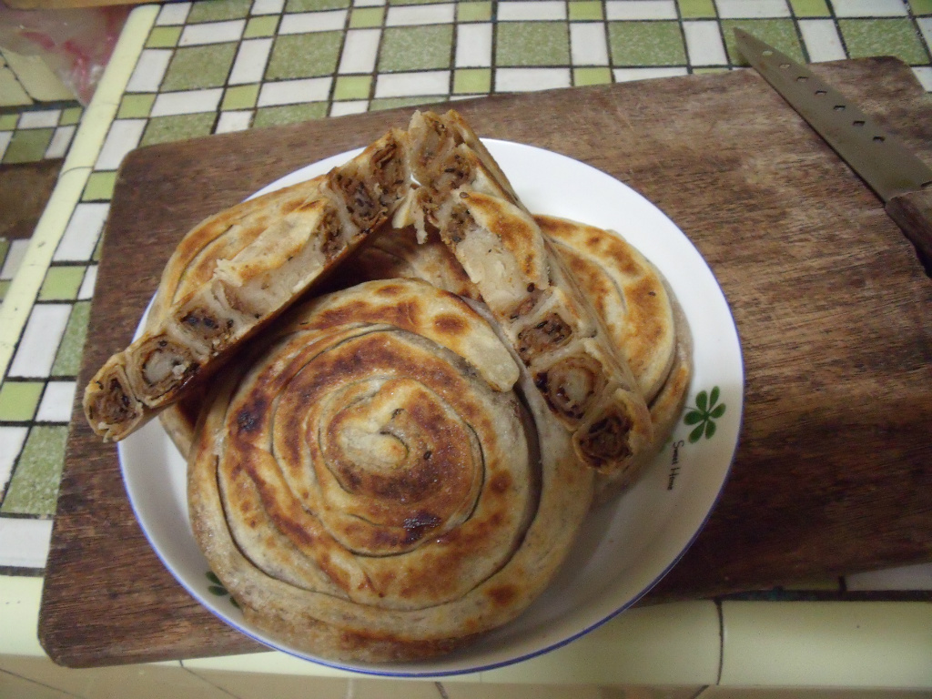 花生芝麻盤香餅