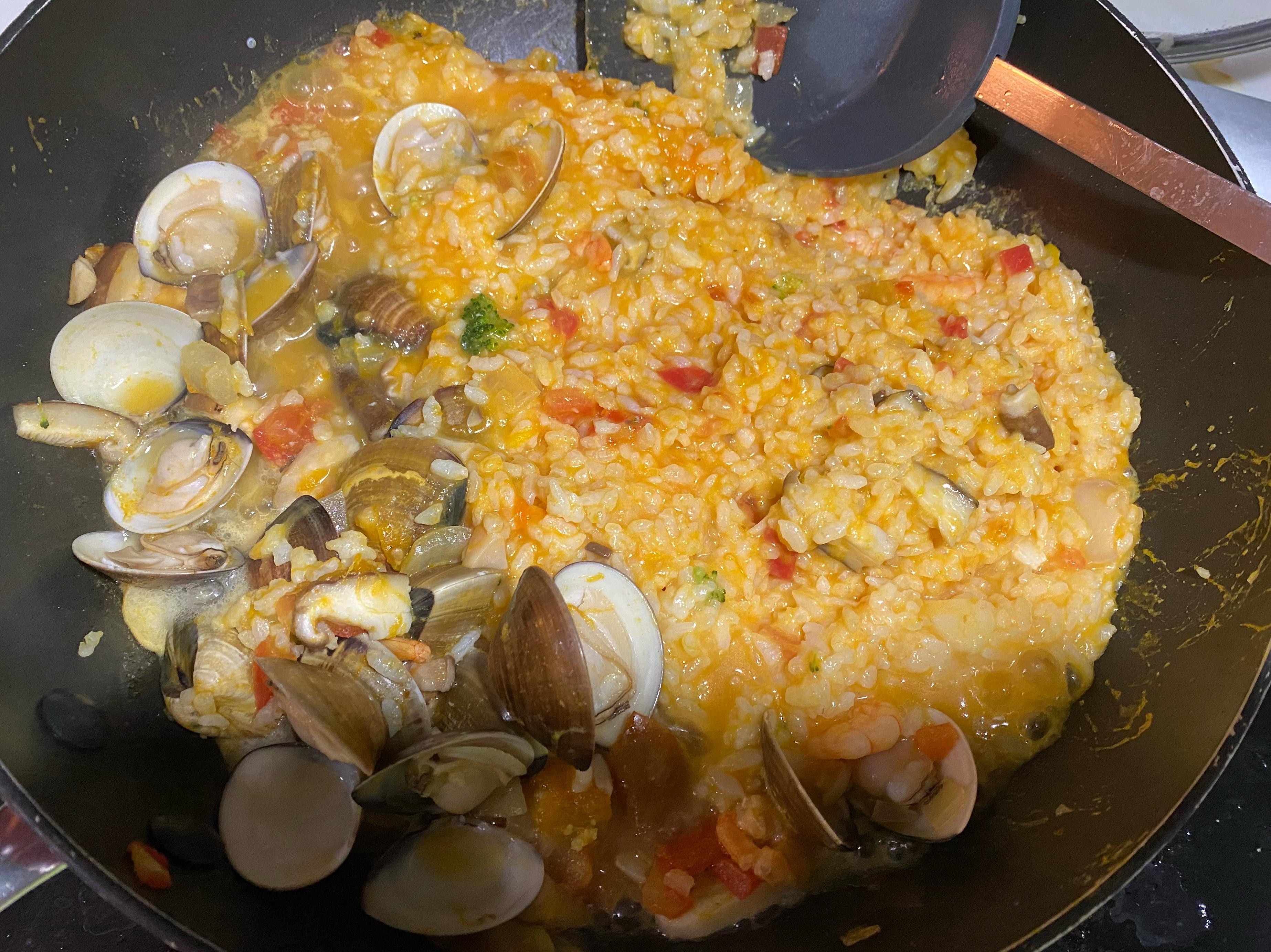 寶寶版南瓜蛤蠣蝦仁燉飯