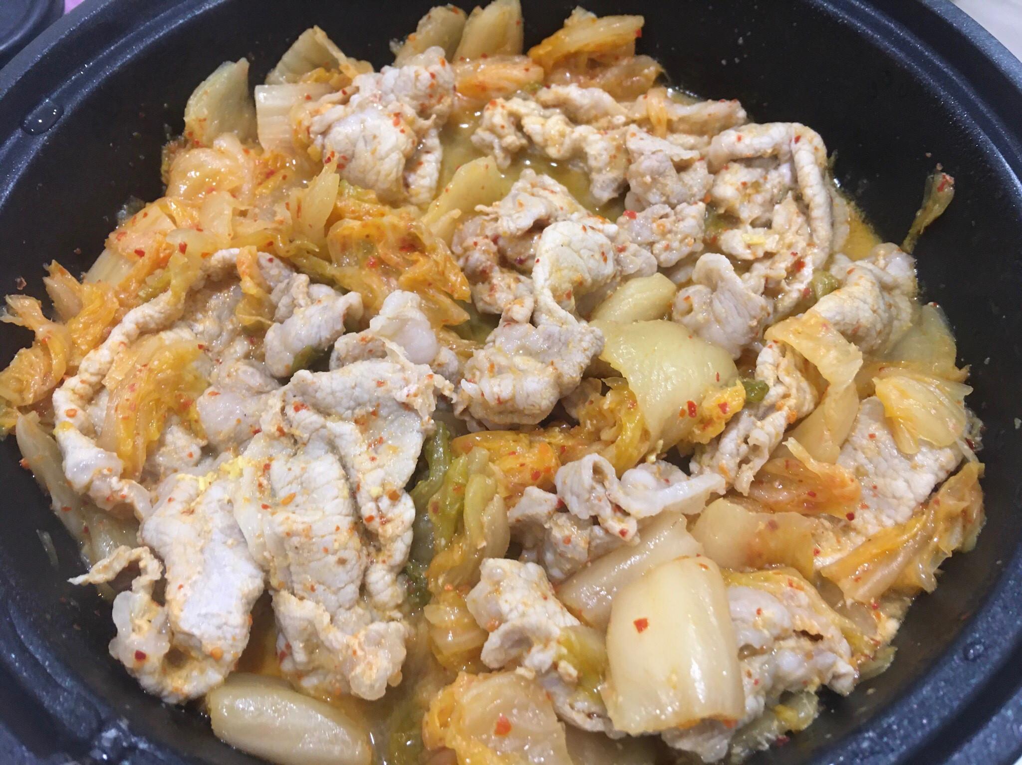 9.泡菜豬肉(簡易料理)