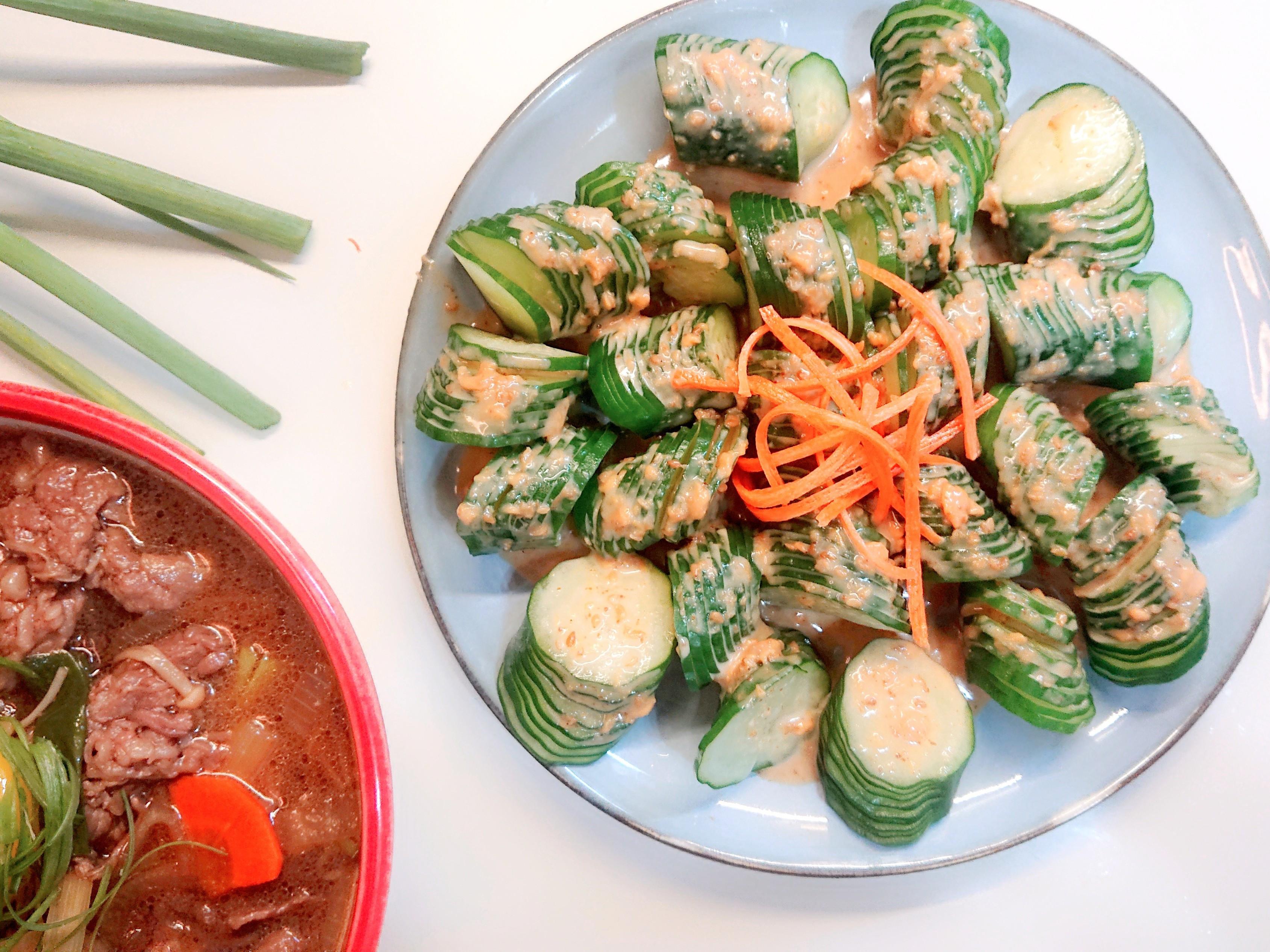 和風麻醬涼拌小黃瓜