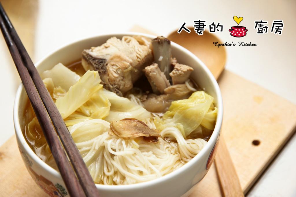 【人妻的廚房】不燥的麻油雞湯麵線