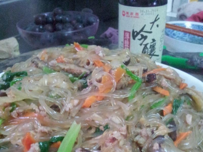 【萬家香大吟釀薄鹽醬油】韓式雜菜(冬粉)