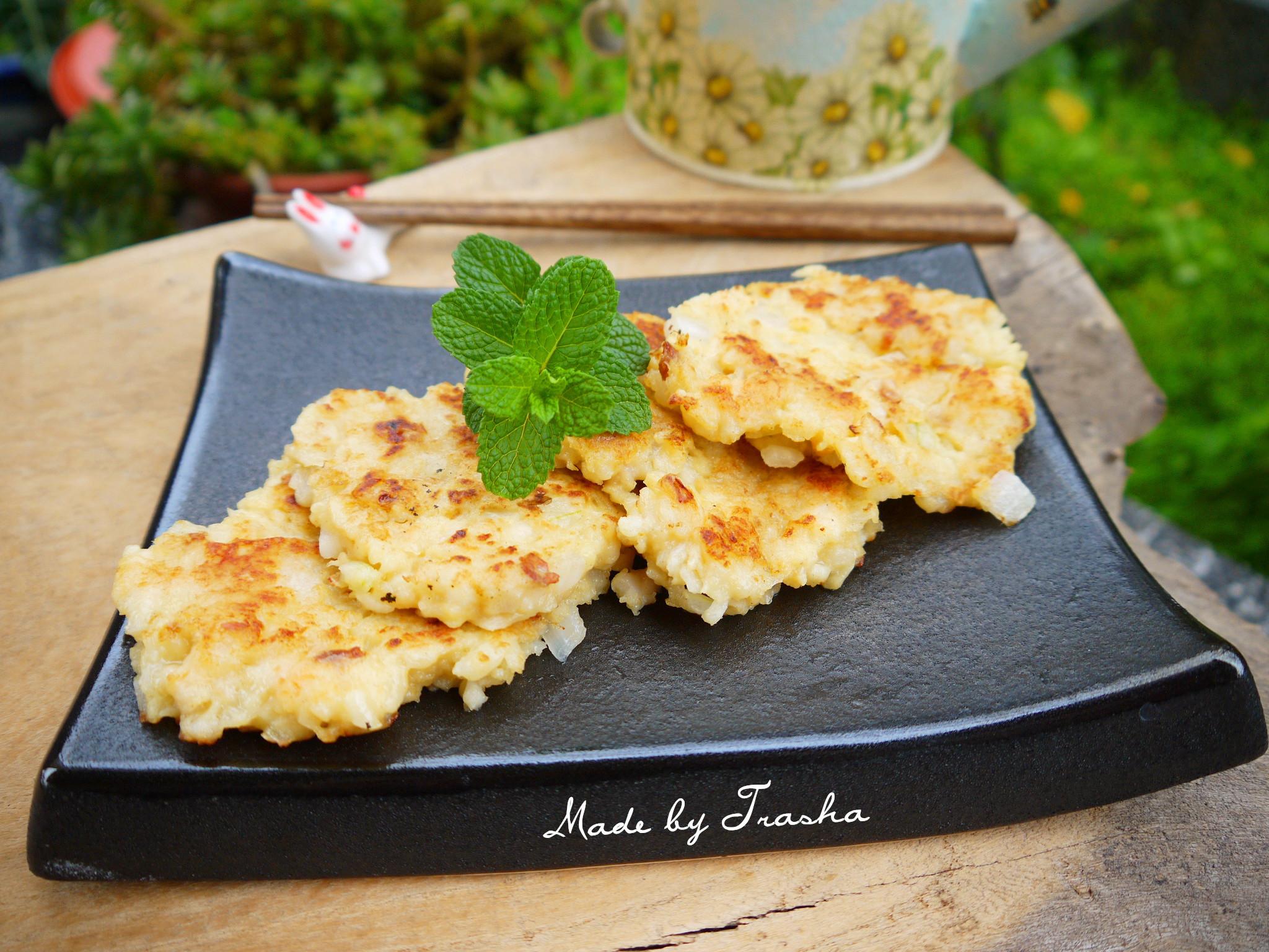 豆薯洋蔥蝦餅