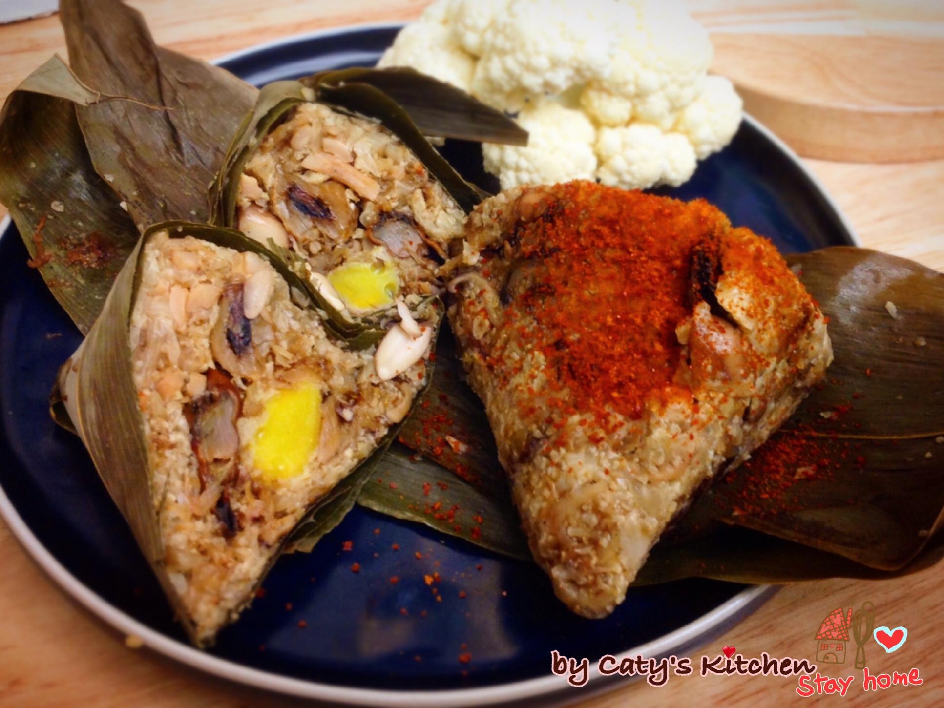 生酮無米海鮮蛋黃粽