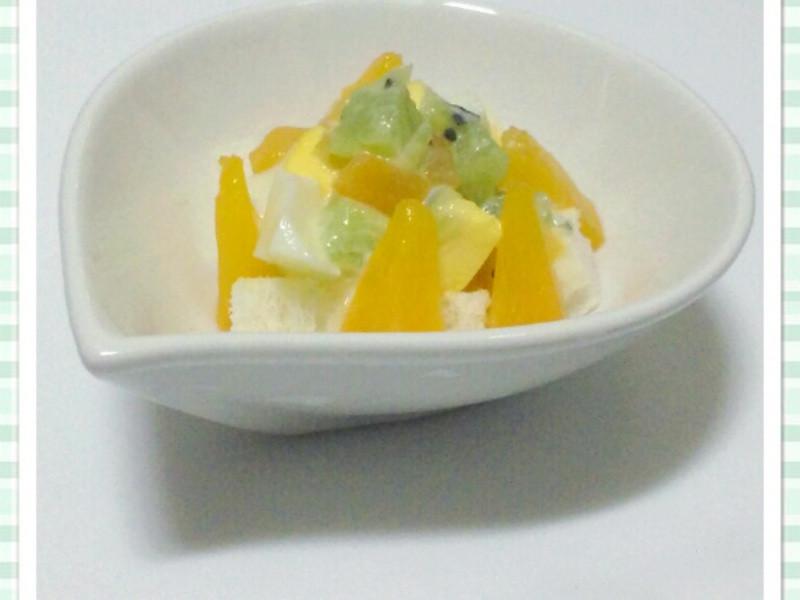 水果蛋沙拉(很簡單喔~親子可一起完成)
