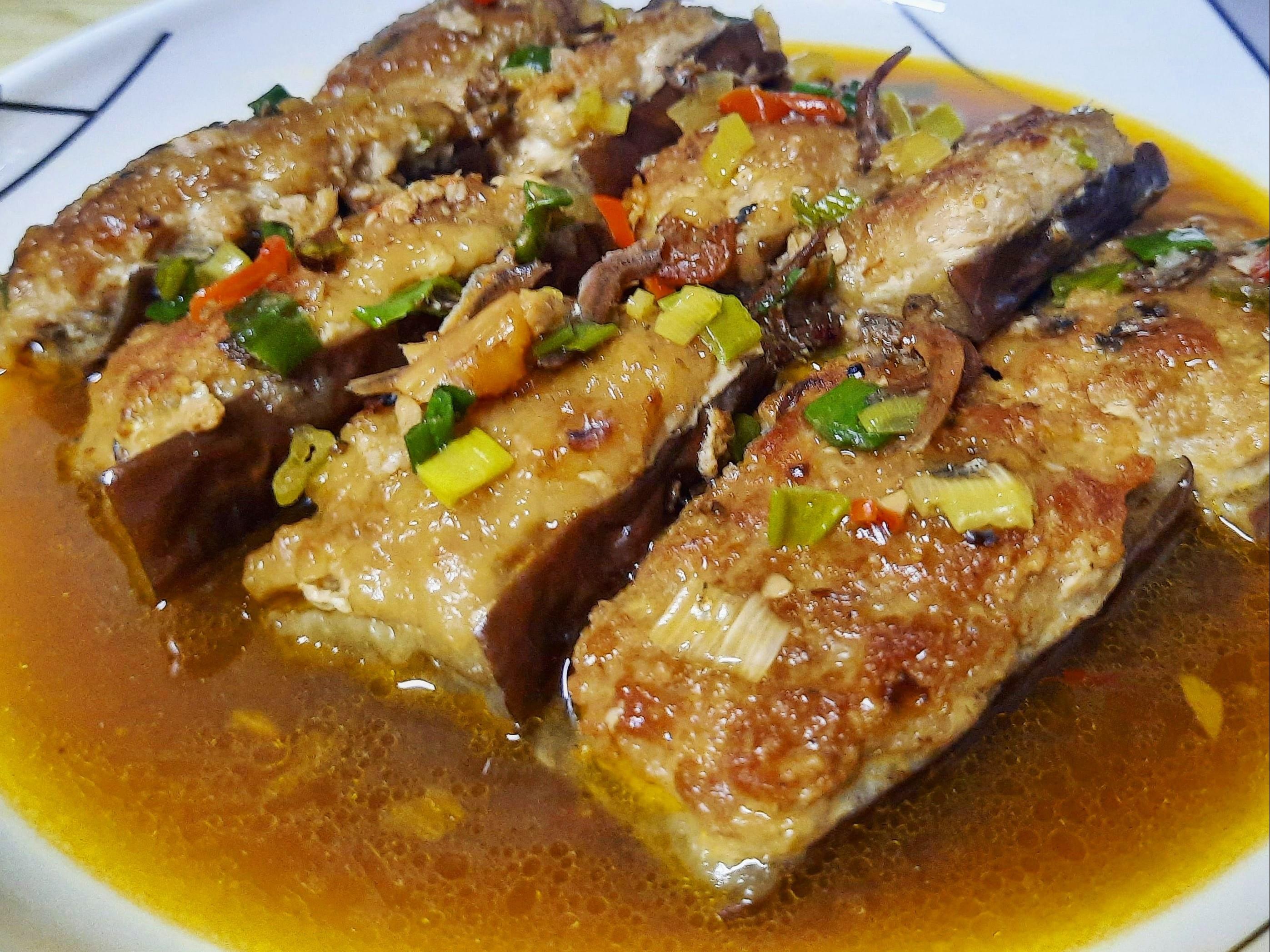 XO醬茄子鑲肉(煎釀茄子)