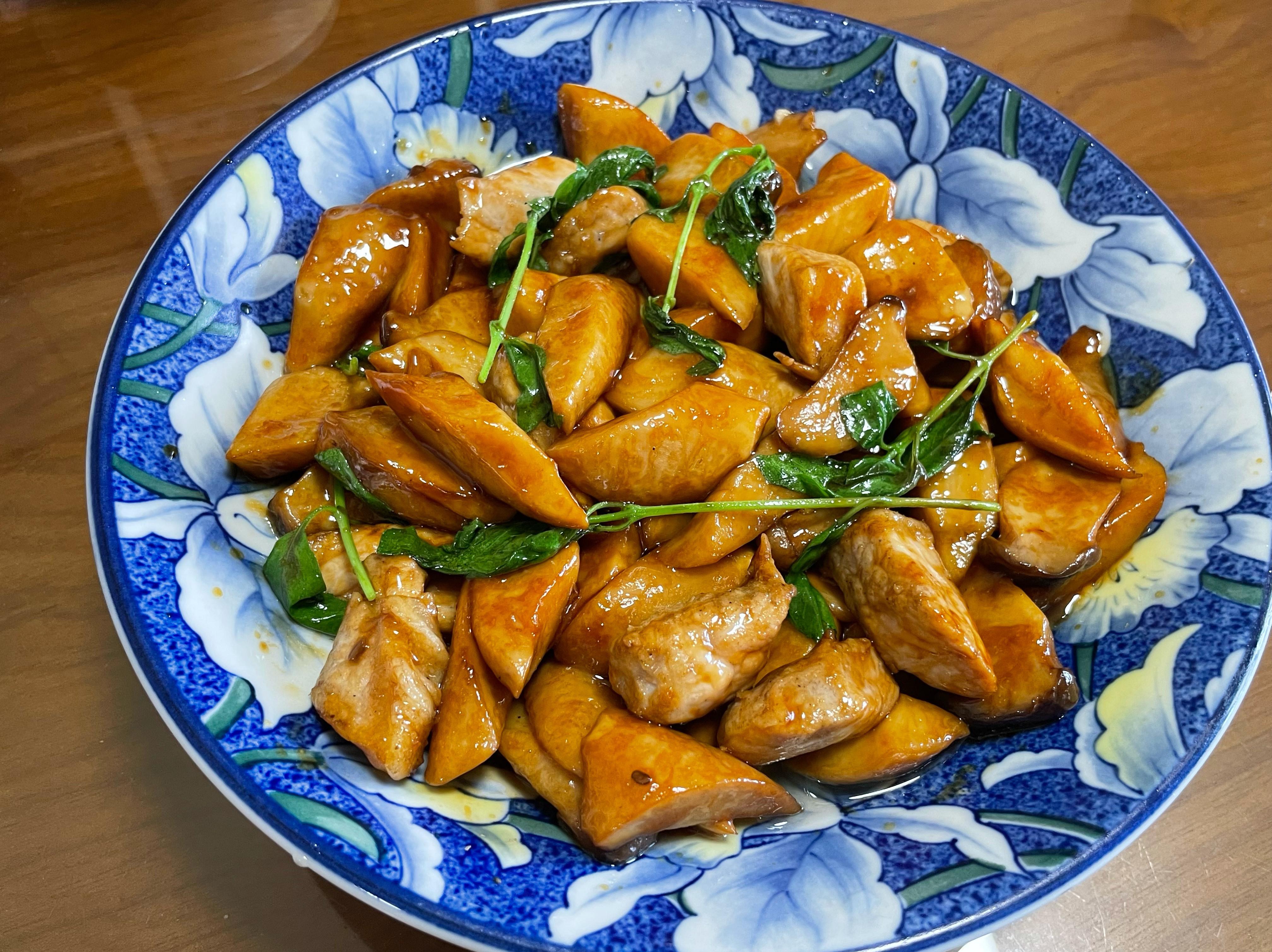 醬炒杏鮑菇&豬肉