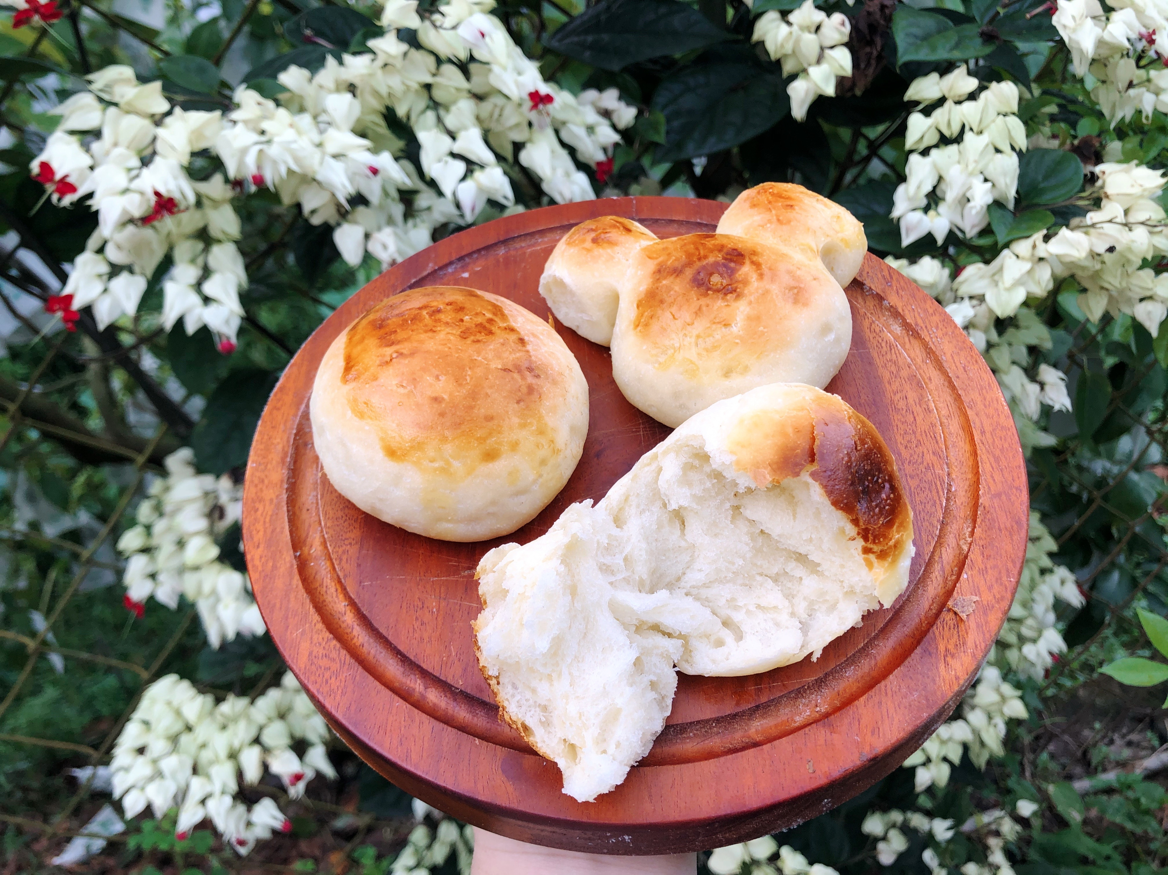簡單鬆軟烤麵包(湯種)