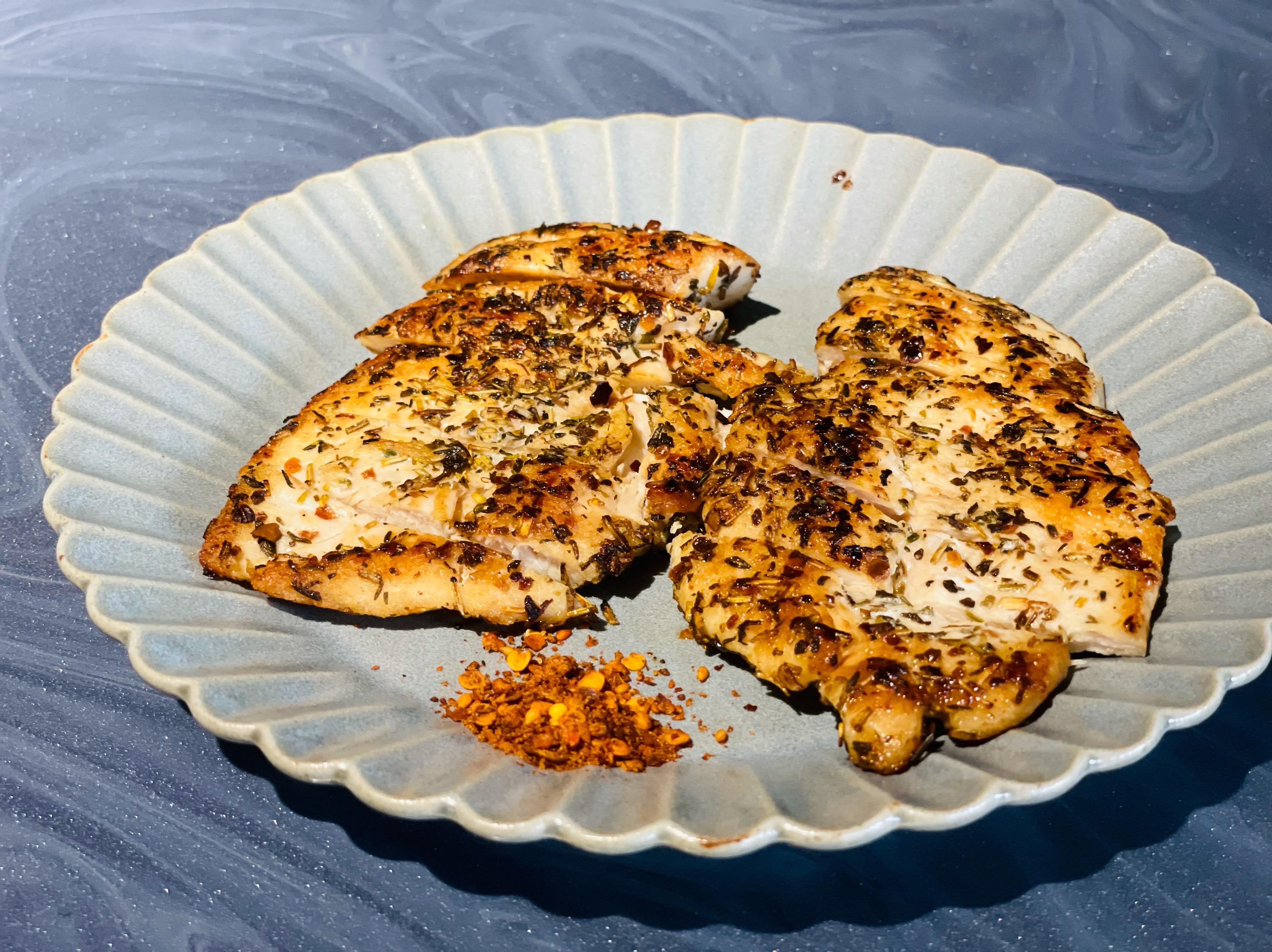乾煎香料雞胸肉