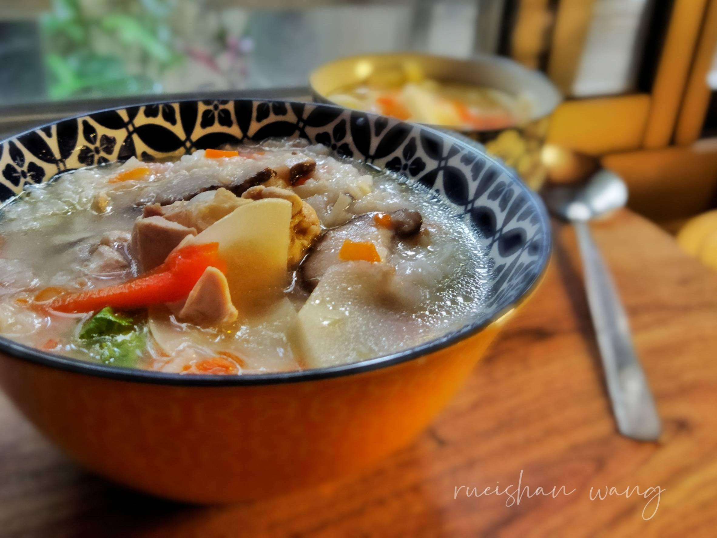 筍絲雞湯粥(電鍋料理)