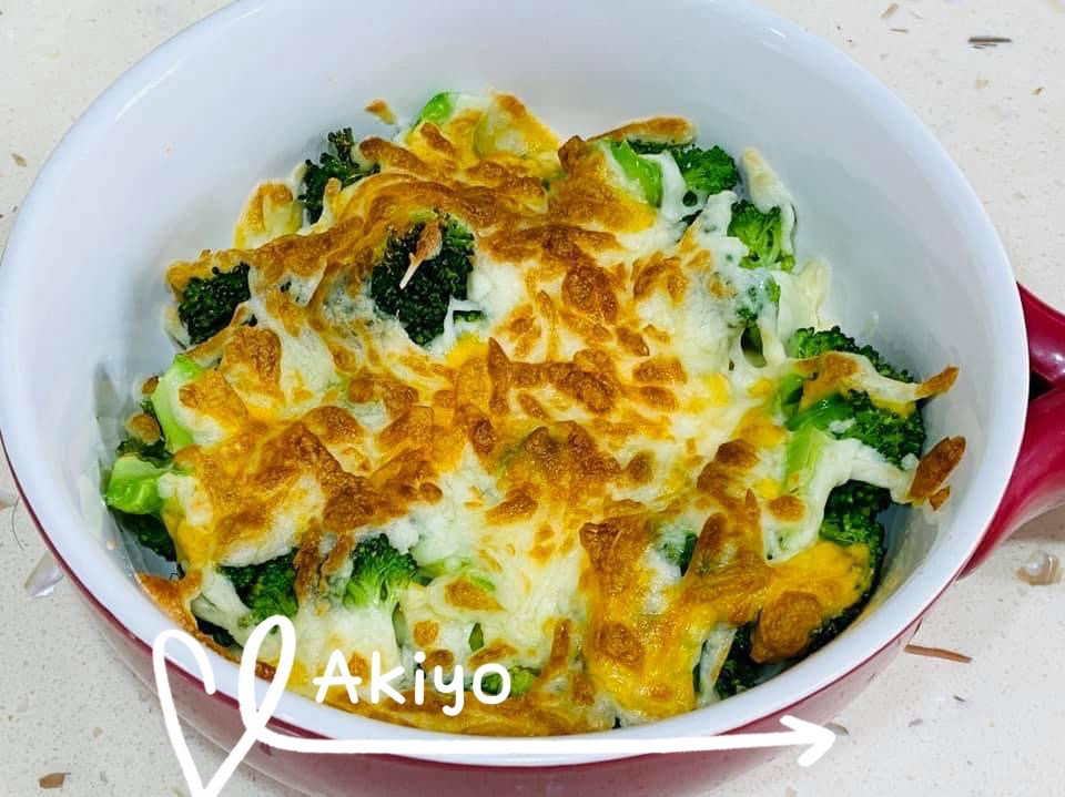 焗烤花椰菜-懶人料理 ( 微波+氣炸)