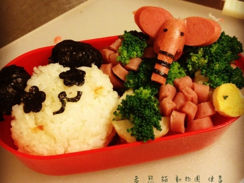 【熊貓眼女孩】 熊貓動物園便當