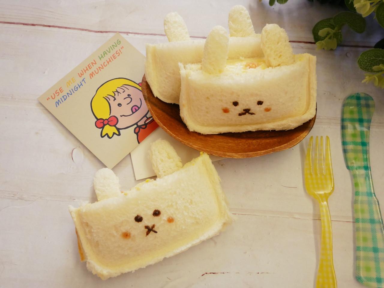好療癒「小兔蛋沙拉吐司」簡單的可愛造型。