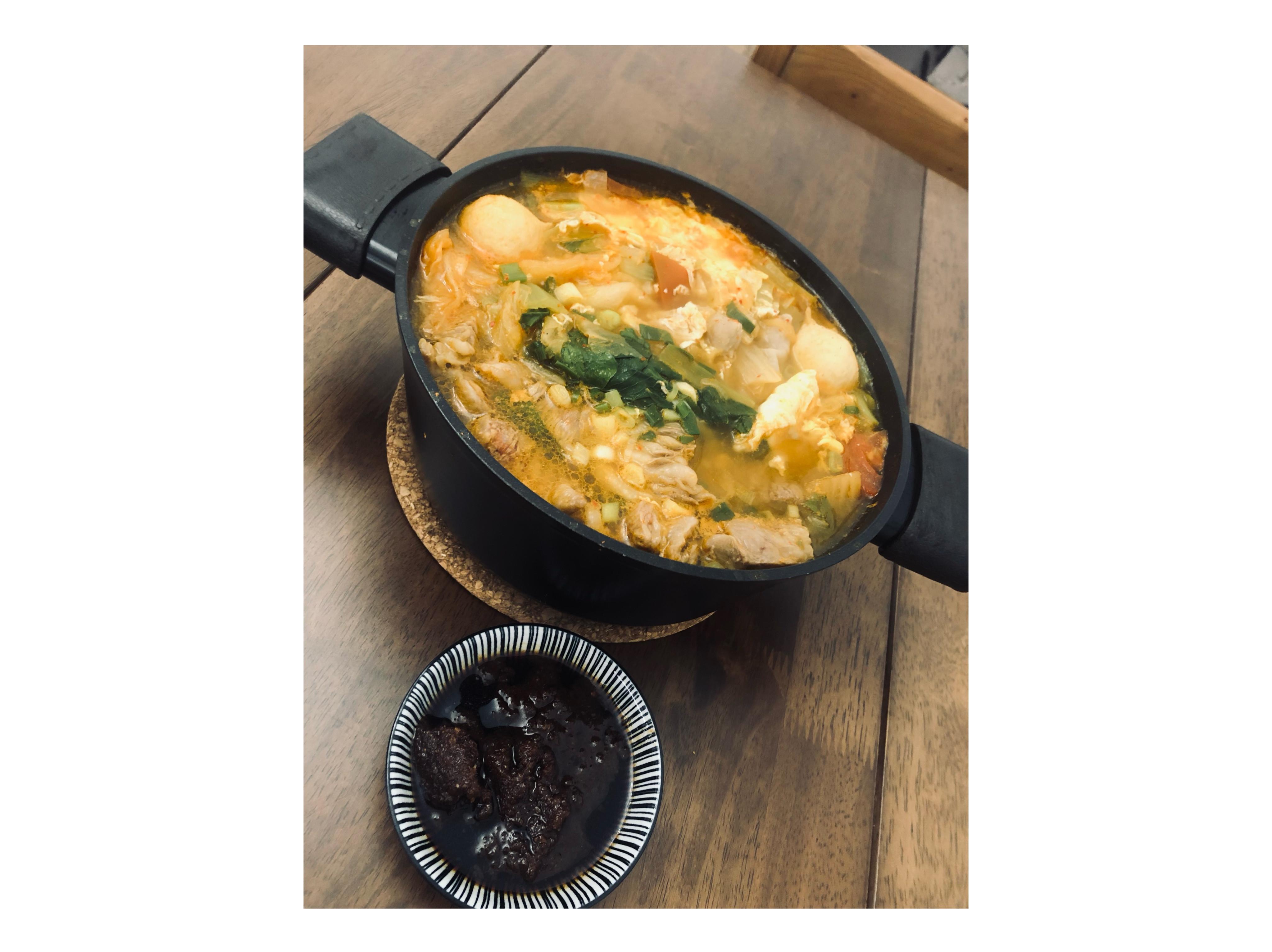 泡菜牛肉豆腐煲