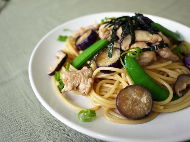 日式♪「萬家香大吟釀薄鹽醬油」和風義大利麵