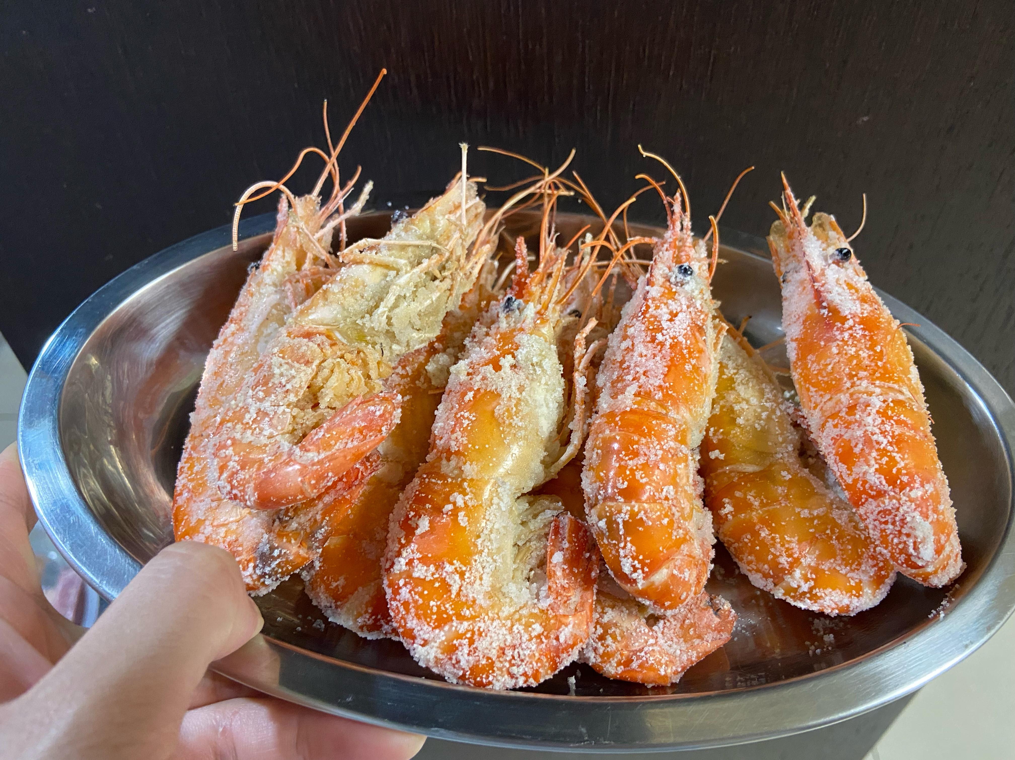 周秉秉の鹽烤泰國蝦🦐
