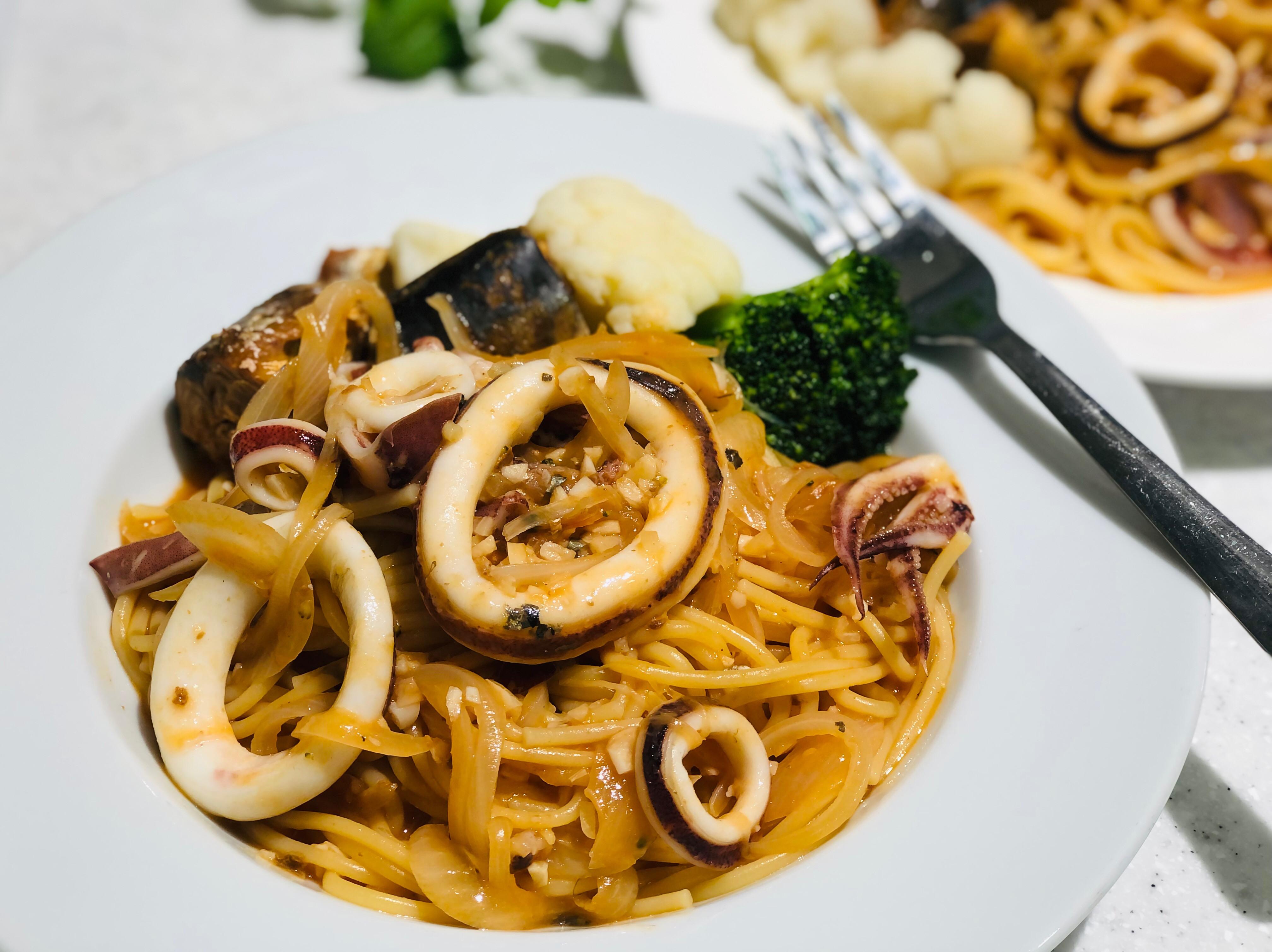 茄汁鯖魚魷魚圈義大利麵/一鍋到底輕鬆煮