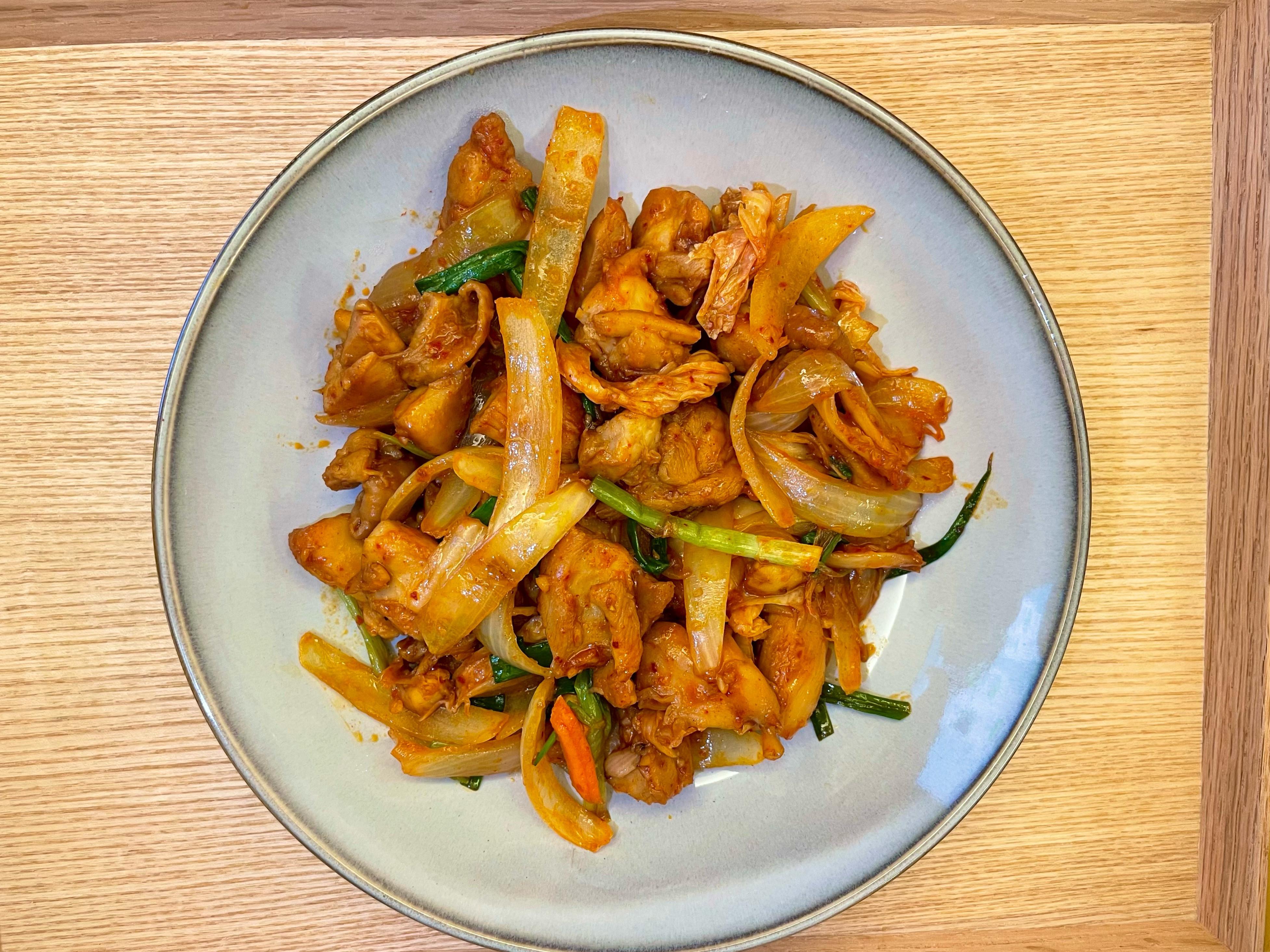 韓式泡菜炒雞件