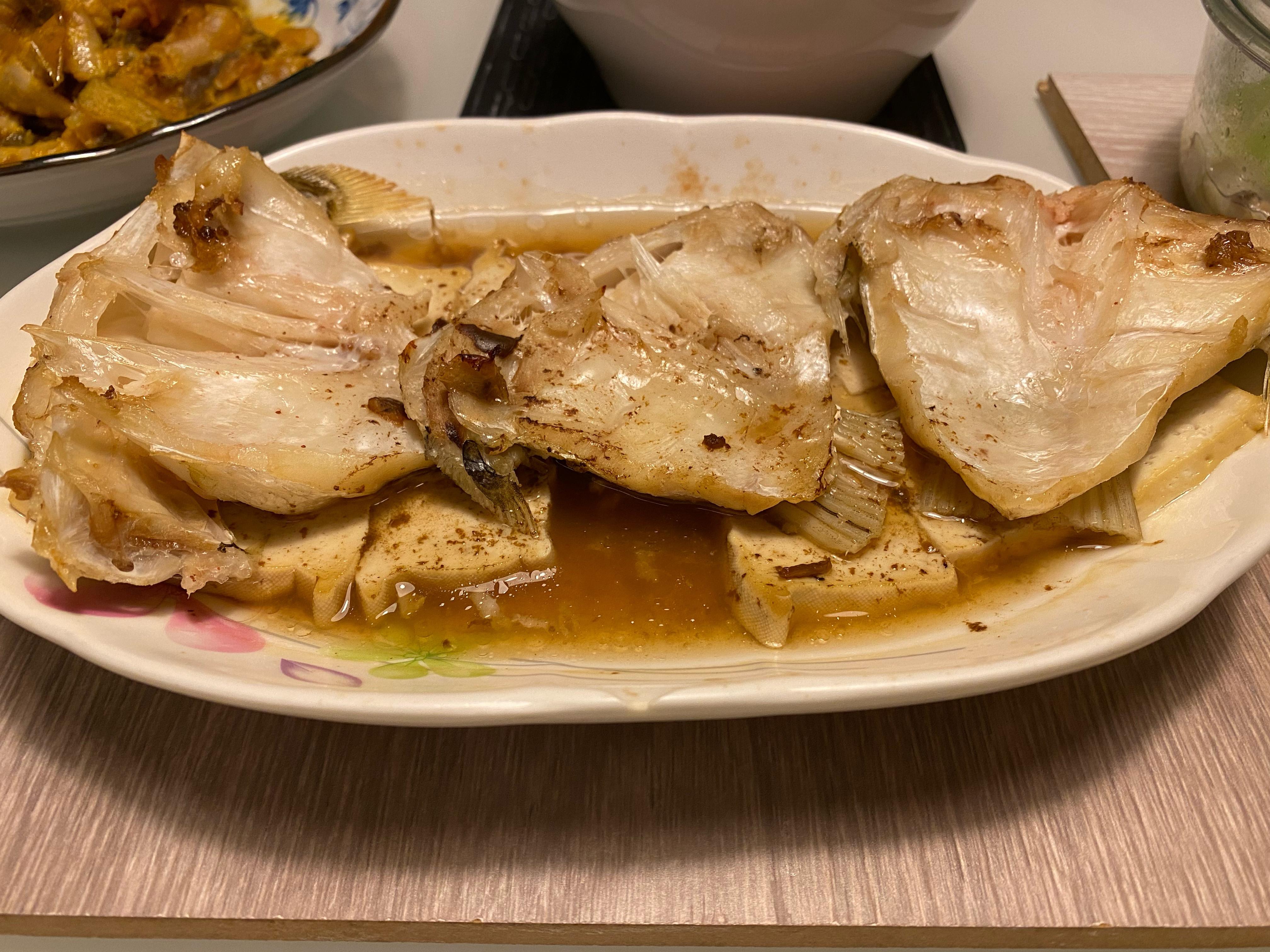 蒸烤破布子豆腐魚下巴