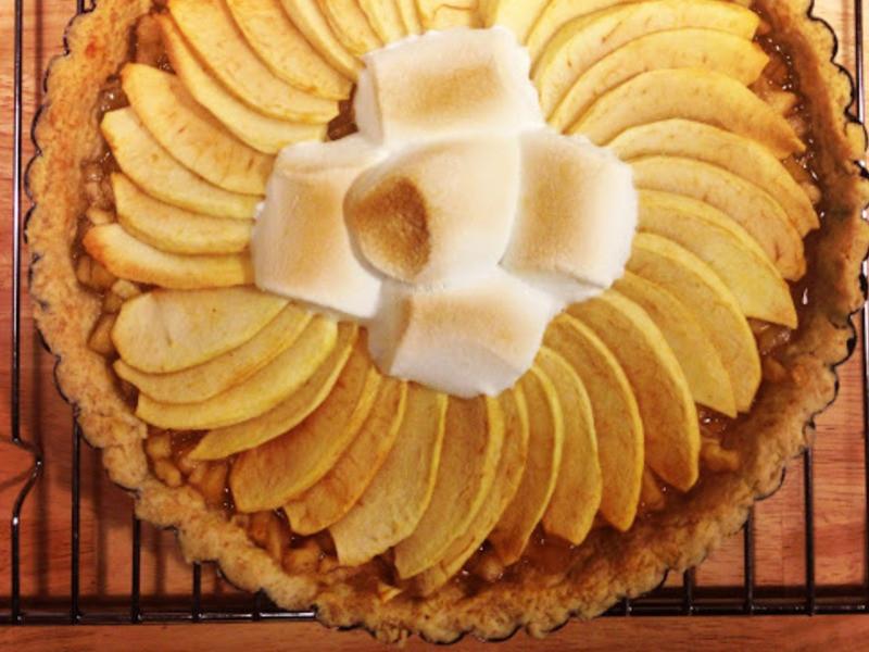 熱情蘋果派化在嘴裡,一口一口的難分難離。