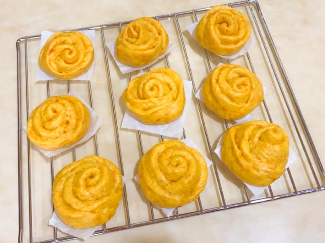 南瓜玫瑰饅頭