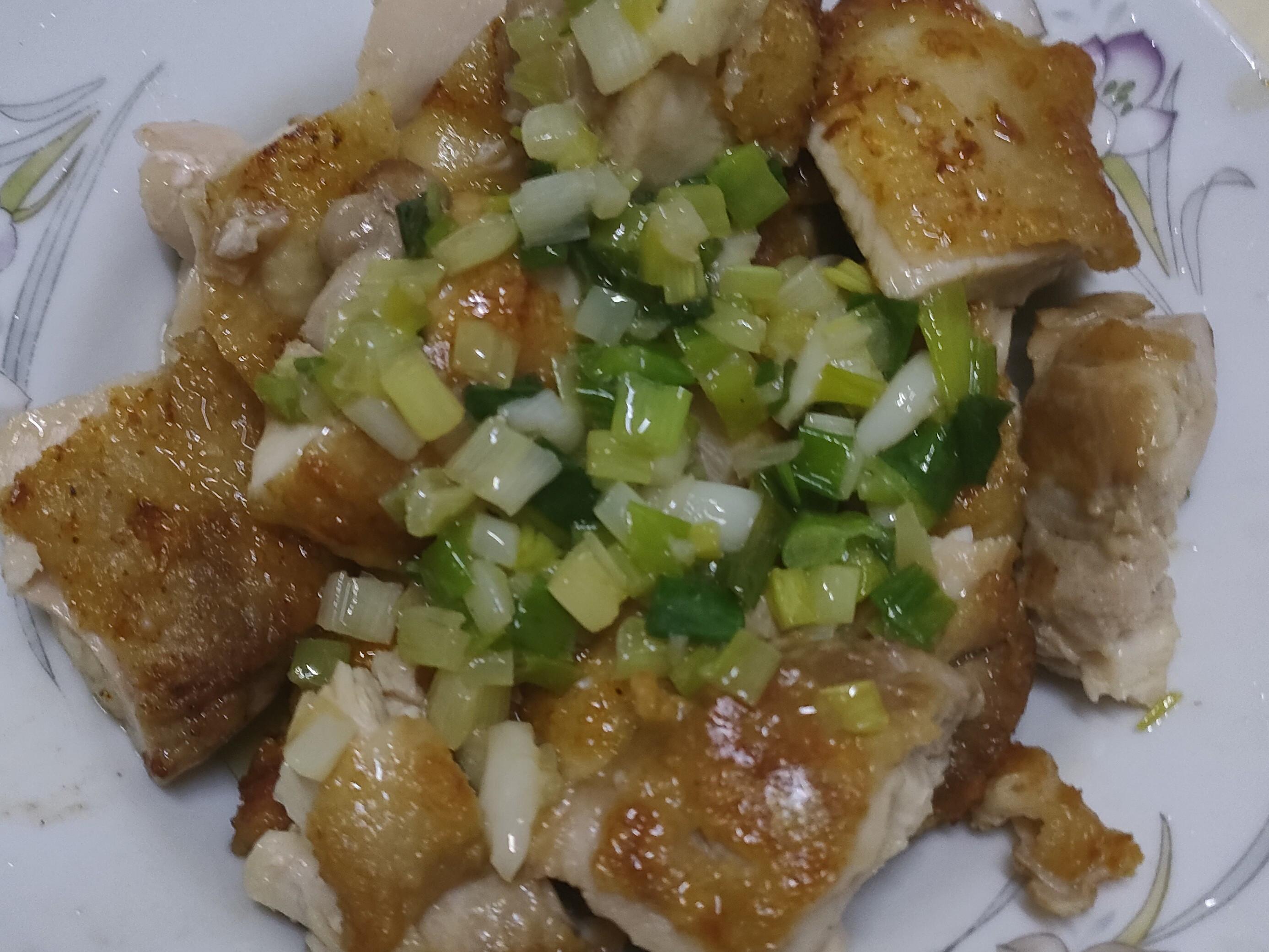 脆皮蔥油雞