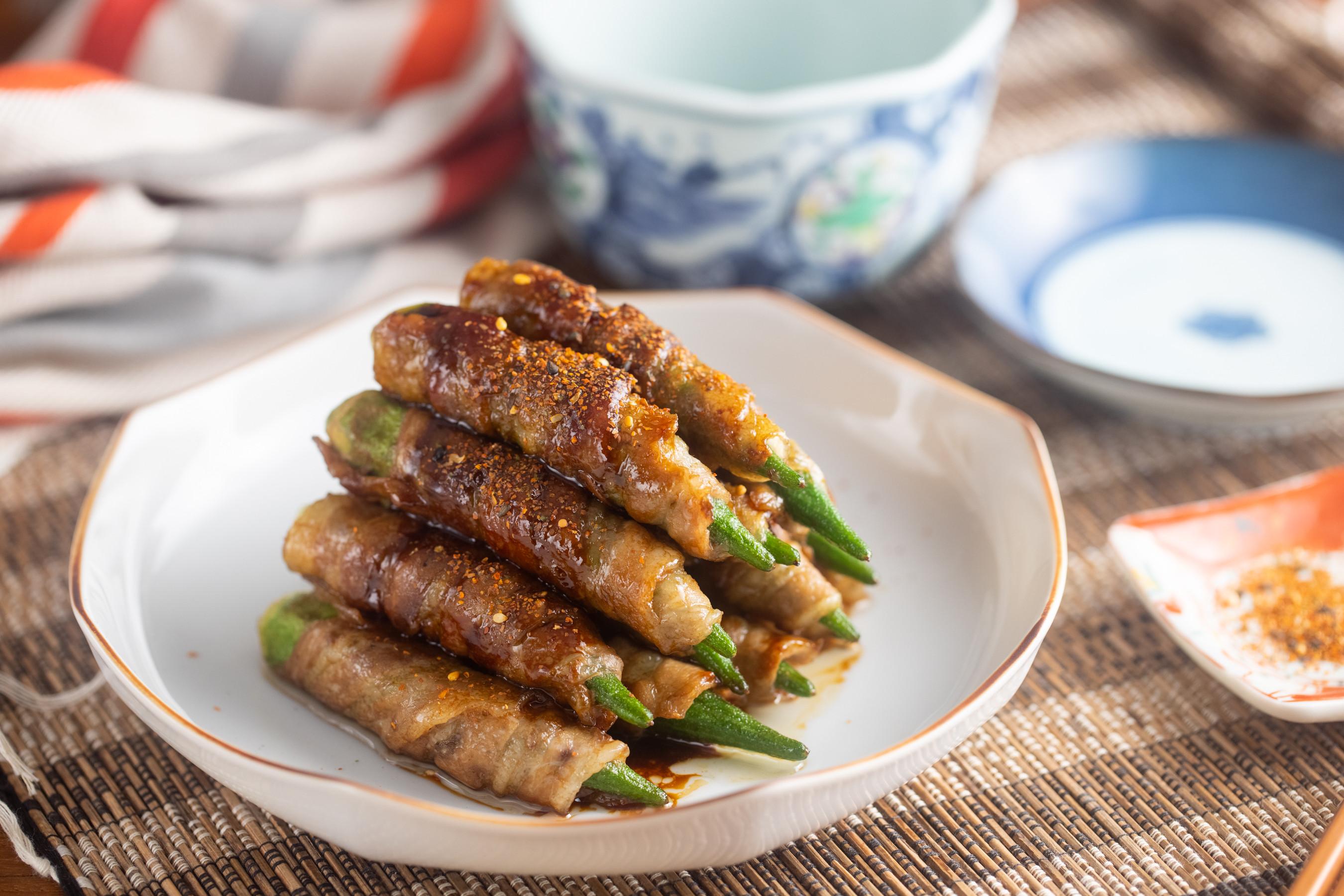 秋葵豬肉捲