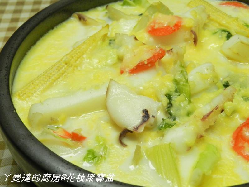 ㄚ曼達的廚房~海鮮年菜~花枝聚寶盆