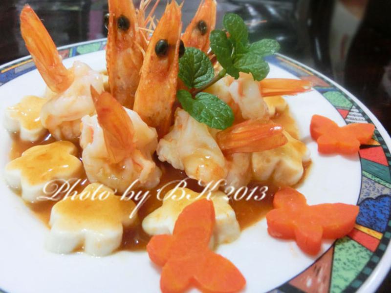 [萬家香大吟釀薄鹽醬油]花團錦簇慶團圓~蝴蝶豆腐