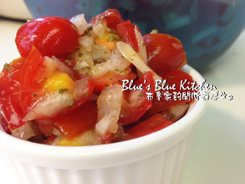 開胃小品-冷拌甜酸蕃茄洋蔥丁