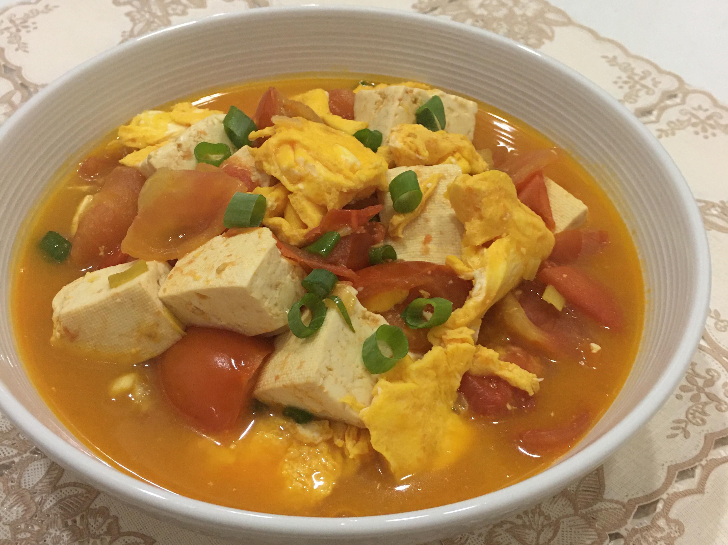 番茄雞蛋煨豆腐