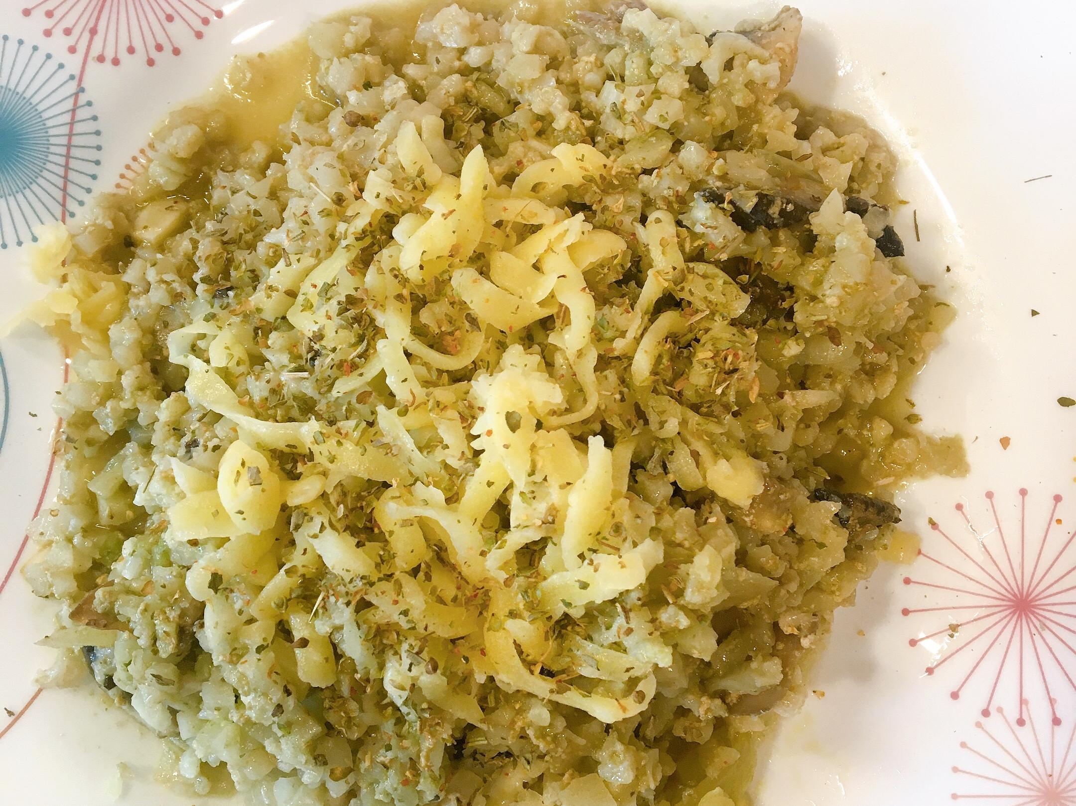 (簡易版)青醬蘑菇燉花椰菜飯🥦