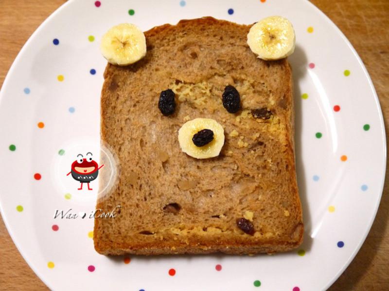 """♡宛の美好""""食""""光 ✿ 熊麻吉香蕉土司"""