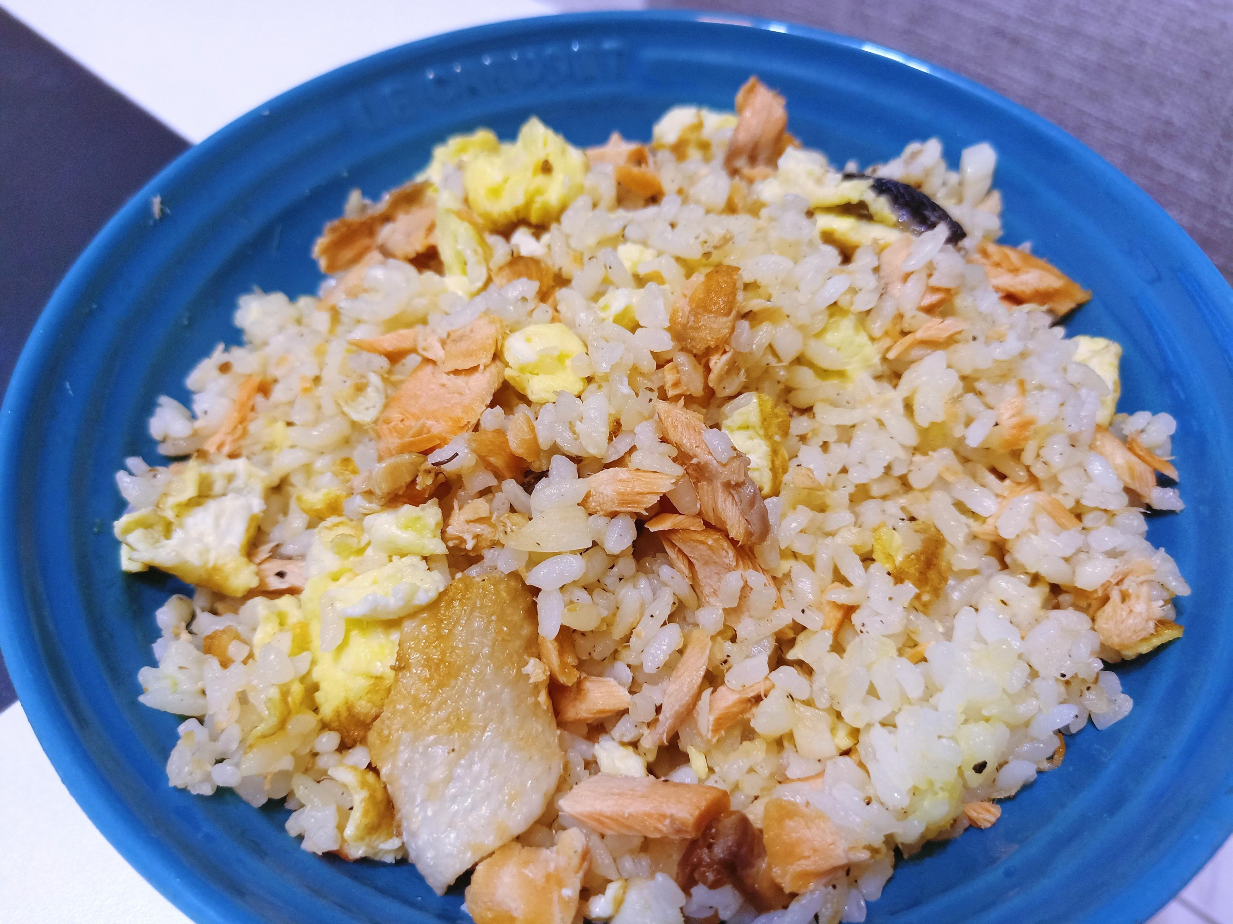 高蛋白~鮭魚蛋炒飯~增肌減脂~軟嫩不油膩