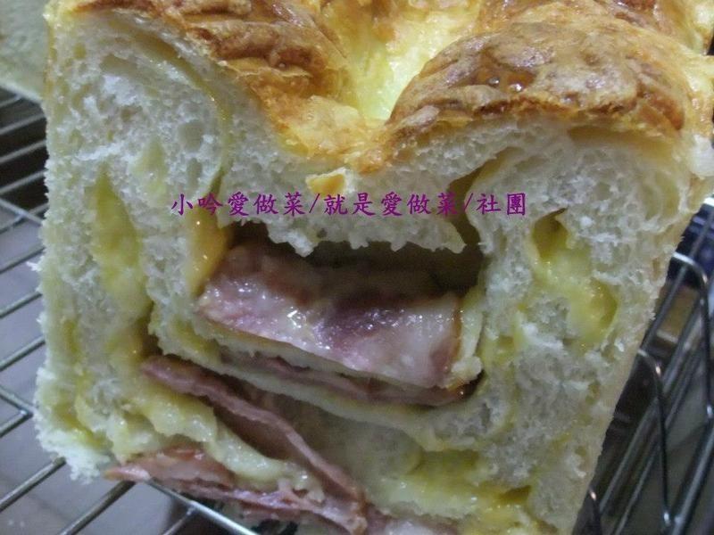 小吟愛做菜~『培根起司乳酪土司』530g/12兩烤模/4條量