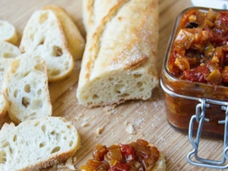 【大肚皮Jason主廚‧真男人廚房】番茄培根酸甜醬麵包