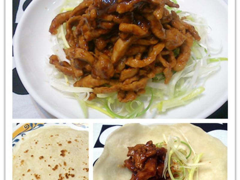 京醬肉絲+荷葉餅