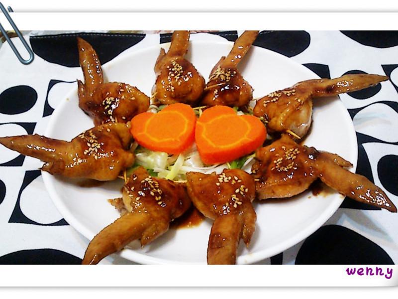 糯米鑲雞翅~照燒版