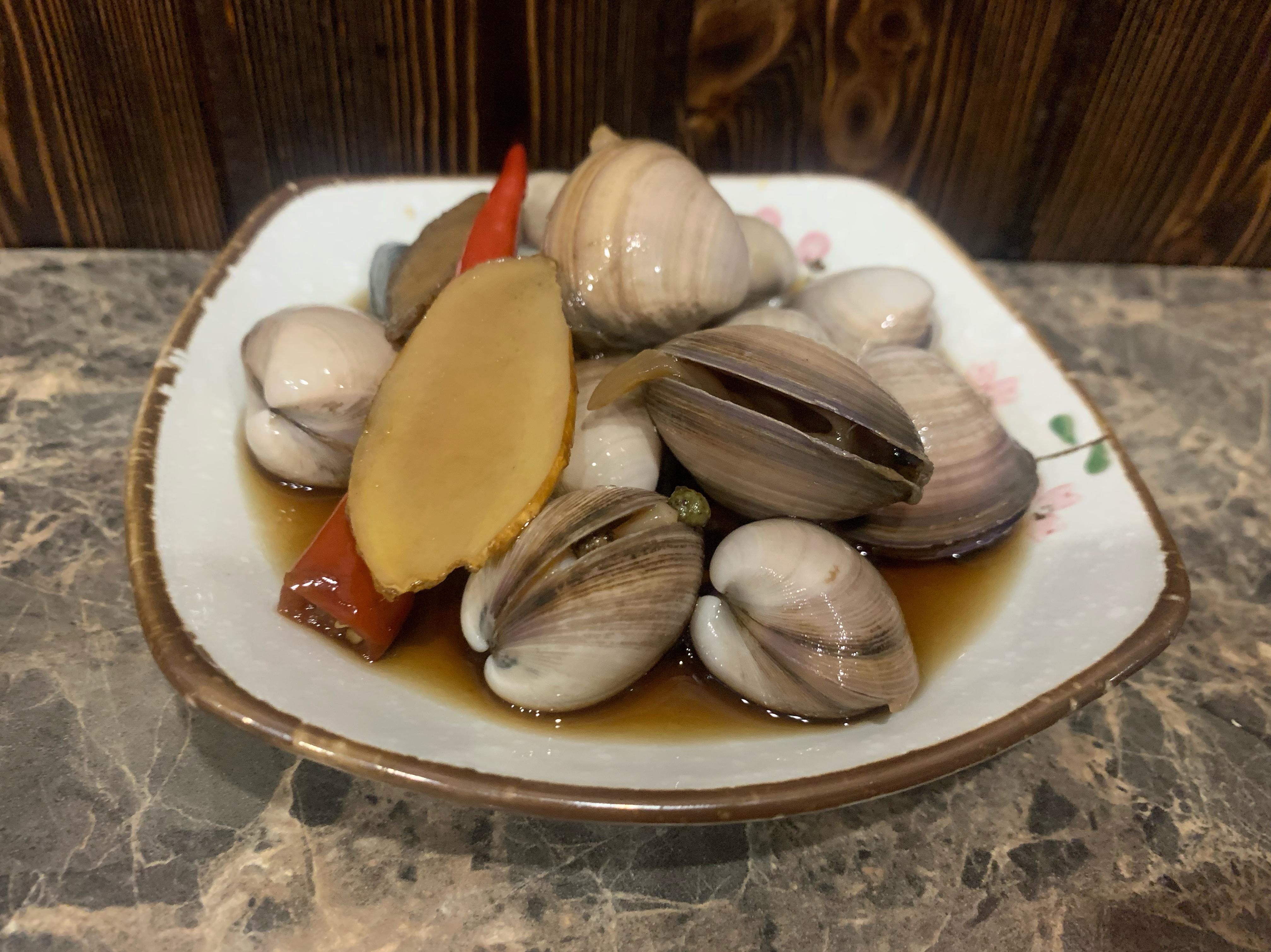青花椒醃蛤蜊