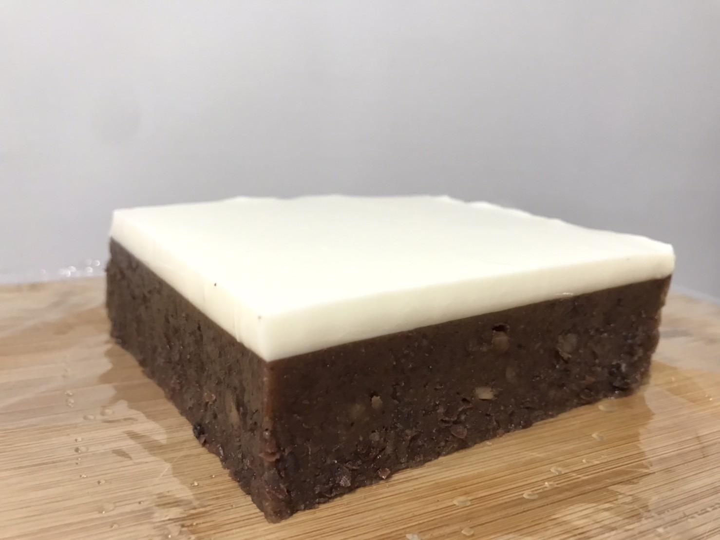 紅豆羊羹佐鮮奶奶凍(減糖版本)