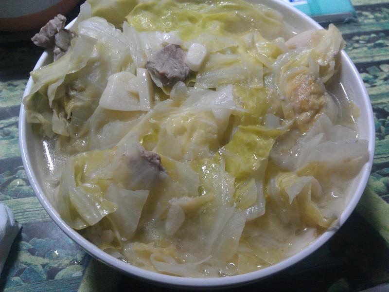 開運!豬肉味增高麗菜湯!