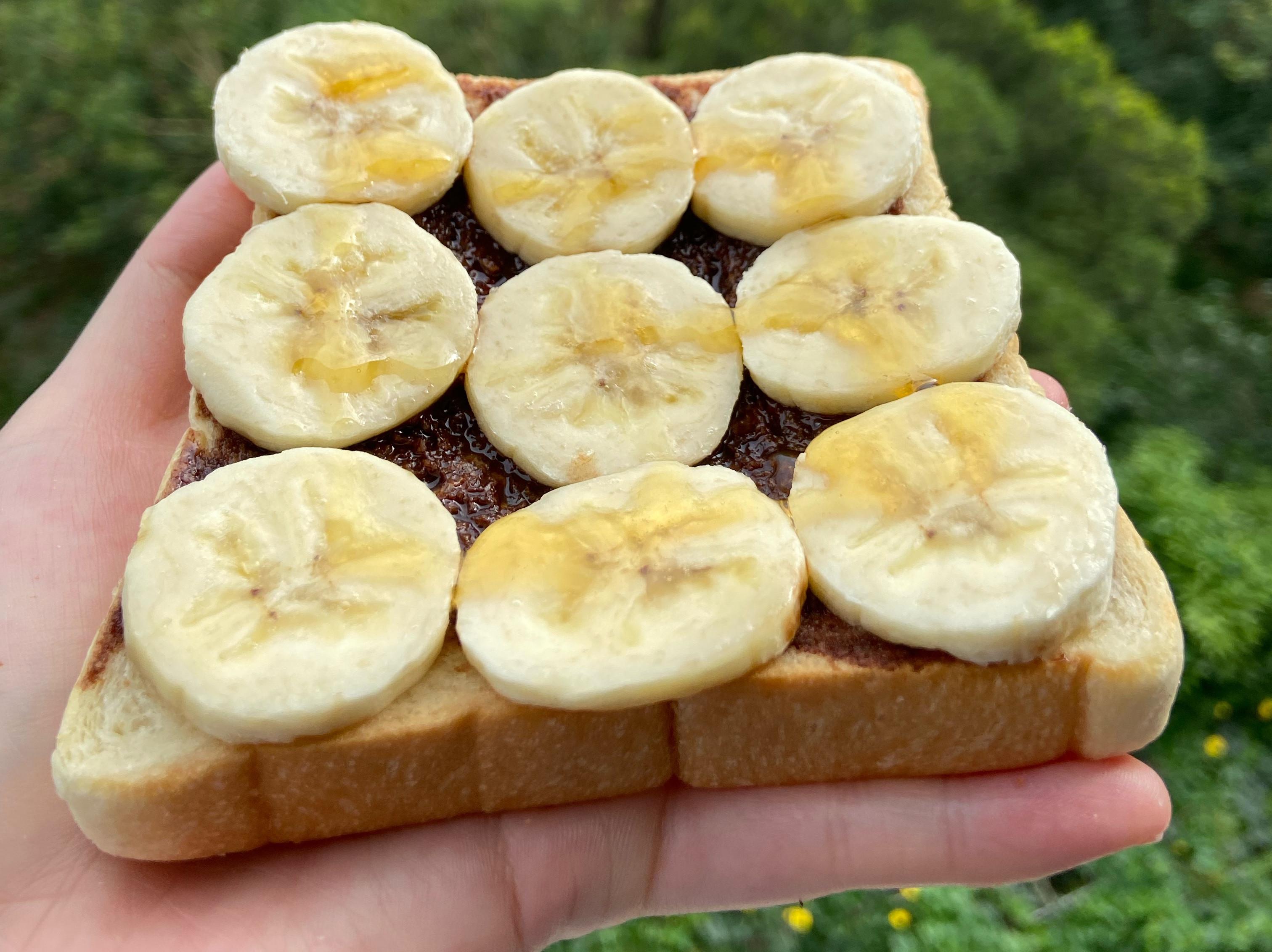 周秉秉の香蕉巧克力吐司~簡易早餐