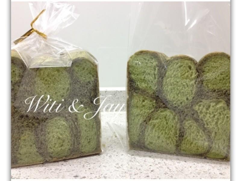 [Witi✿Kitchen](麵包機-麵包)抹茶芝麻龜殼紋吐司
