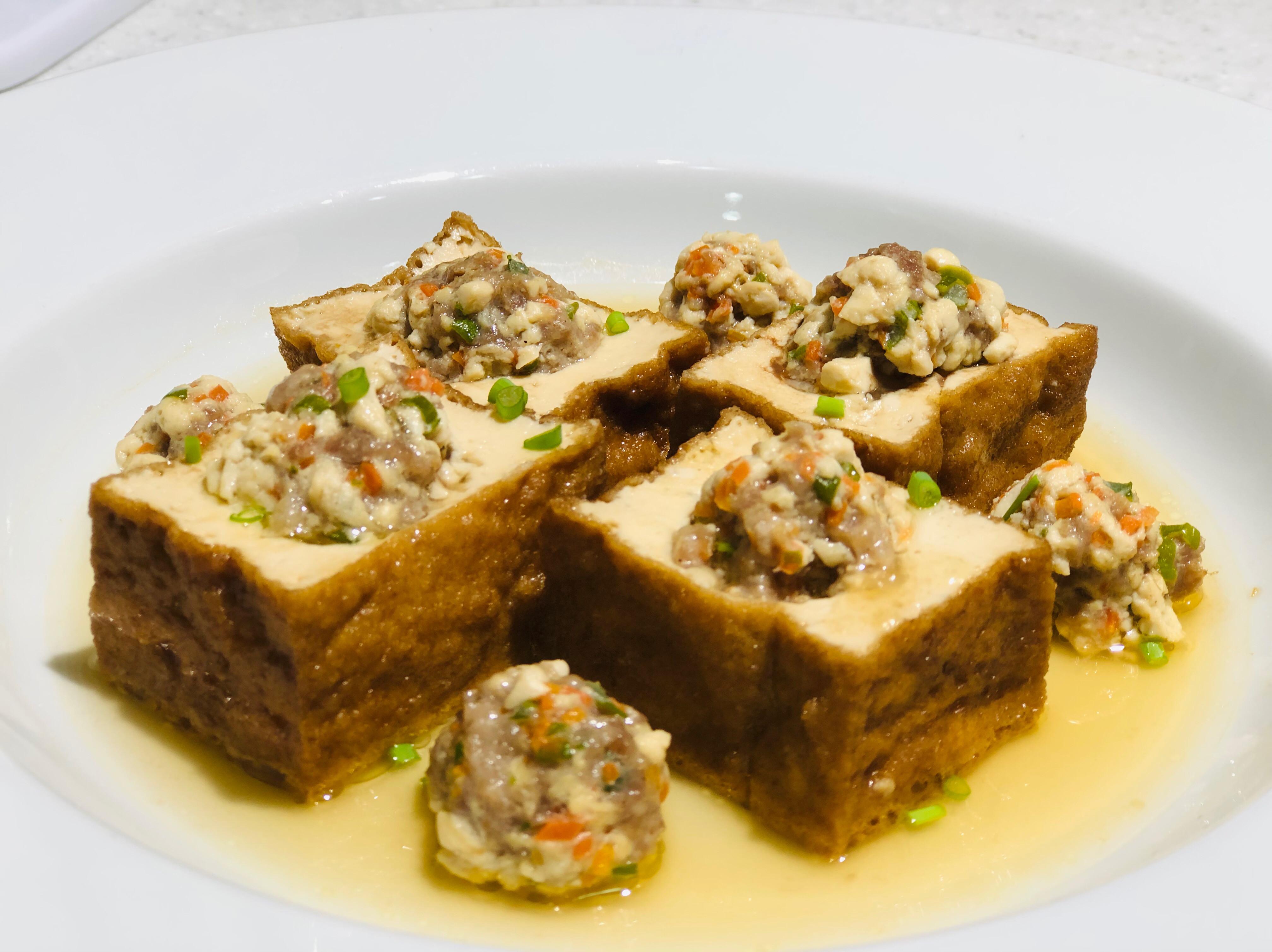 油豆腐鑲肉及油豆腐肉丸/中華鹽滷油豆腐