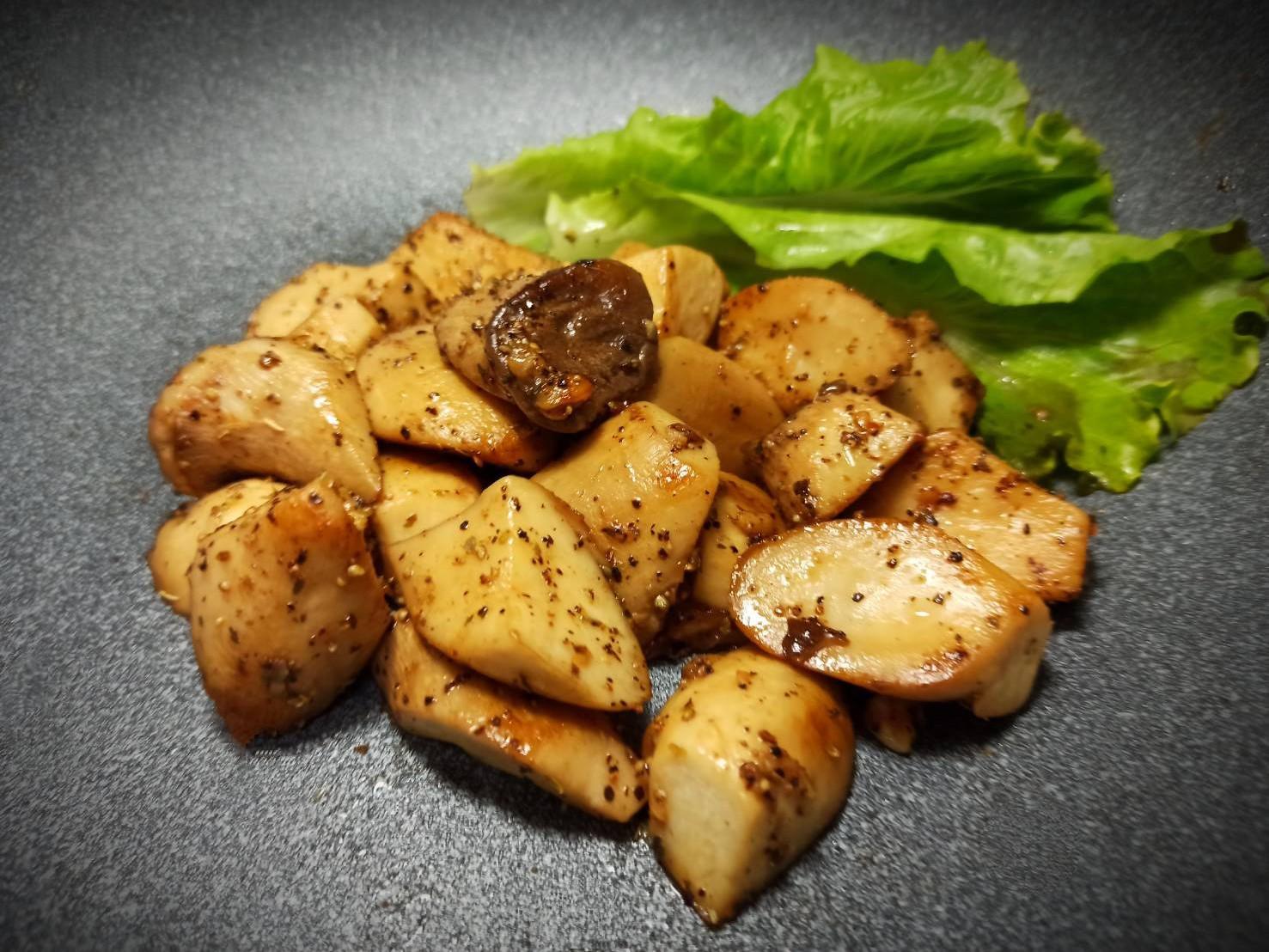 蒜香奶油杏鮑菇(零失敗)簡單煮黑胡椒