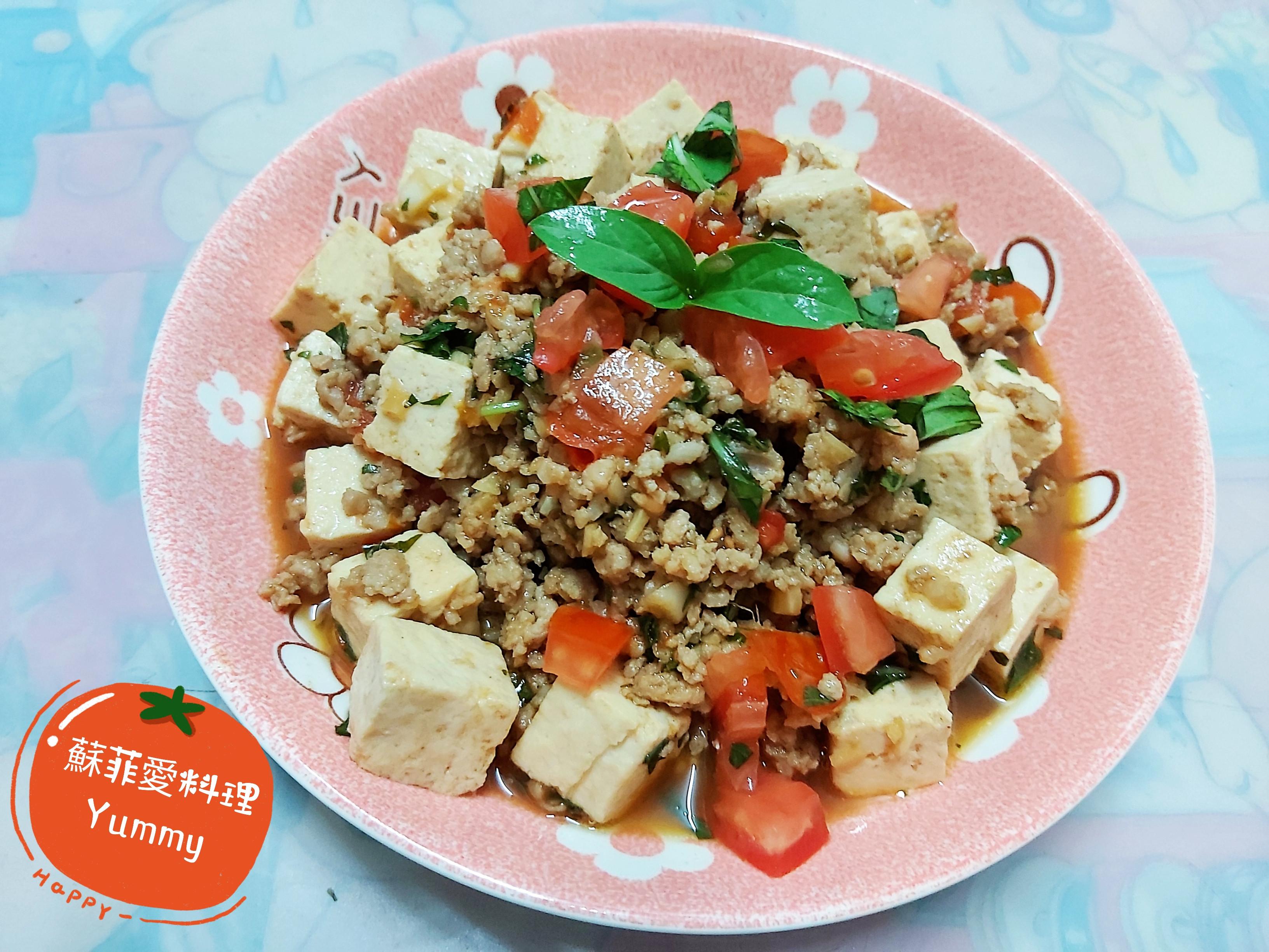 泰式塔香豬肉豆腐