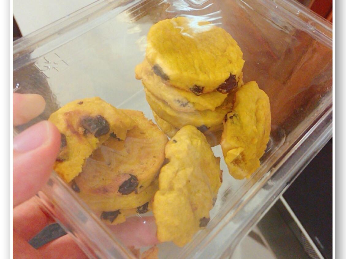 金黃南瓜葡萄乾鬆餅 / 餅乾